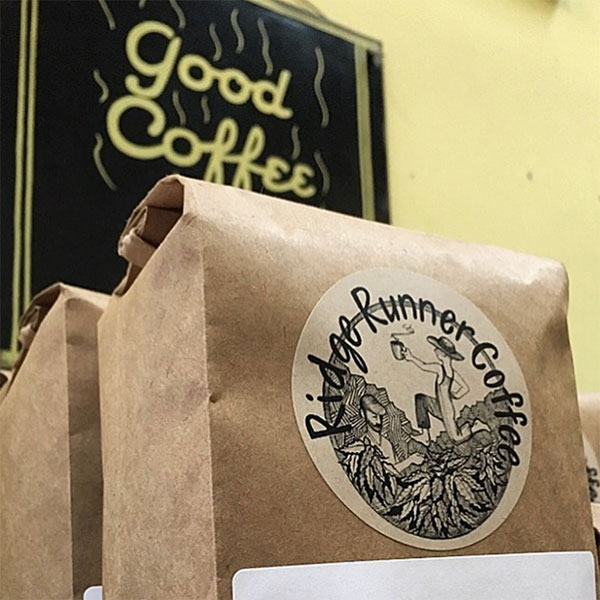 photo of ridge runner coffee on the shelf